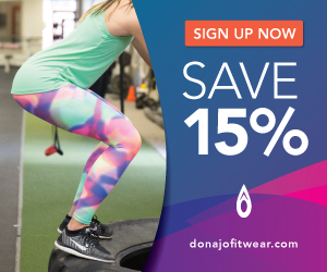 printed running legging for women in funky by donajofitwear