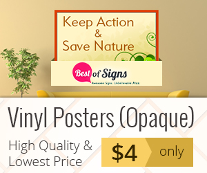 Want to communicate your Brand message to your target audience in the most effective manner? Customized Vinyl Posters is what you have been looking for!