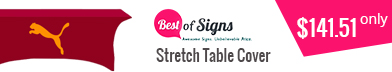 Custom table covers are a simple and effective way to display your logo,important information or message.