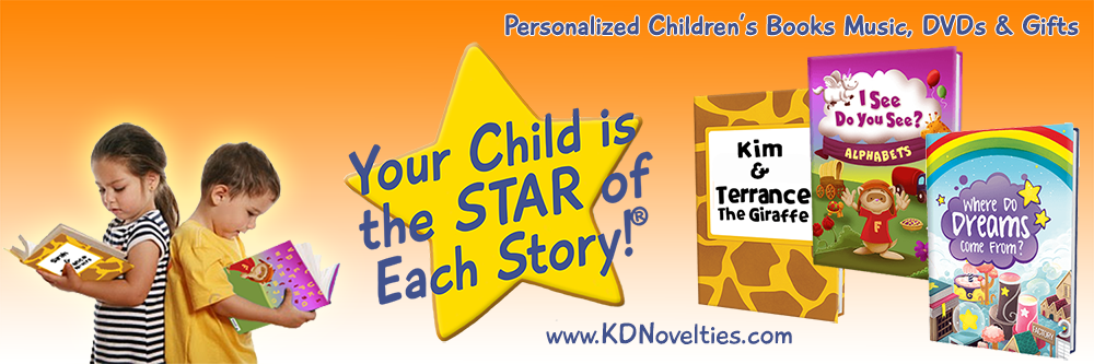KD Novelties Personalized Books for Kids