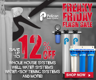 Freaky Friday Flash Sale - Take 12% Off Whole House Water Systems! Plus 25% Off Drinking and Shower Filters at Pelican Water. No code needed.