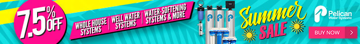 Take 7.5% Off Whole House Water Systems + 20% Off Drinking and Shower Filters