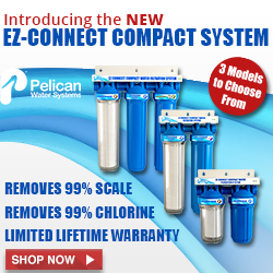 NEW! EZ-Connect Compact Water Filtration Systems! Removes 99% Scale and Chlorine - Limited Lifetime Warrenty