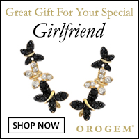 Girlfriend Sterling Silver Cubic Zirconia Contrasting Butterfly Ear Pin Earrings