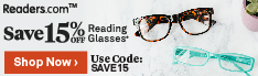 Save 15% off at Readers.com
