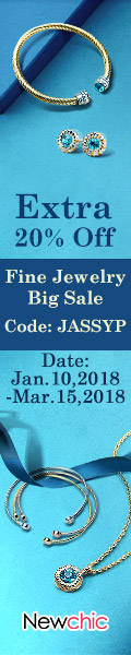 Free Shipping + Extra 20% Women Jewelry (Coupon code:JASSYP))