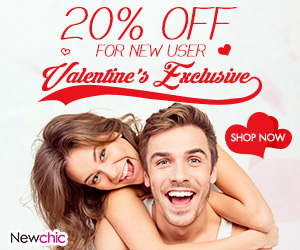 Get 20% Off for Valentine's Day New User