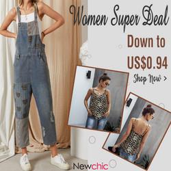 Newchic Women Supper Deal Down to $0.49 date range:7/21/2021-8/22/2021