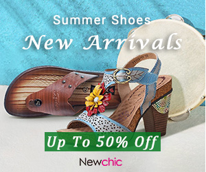 10%-20% OFF Summer Shoes New Arrivals