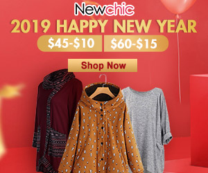New Year Women Clothes Sale $10 Off $45,$15 Off $60; Coupon code:NEWY10; Coupon code:NEWY15; Expire on:Feb 28, 2019