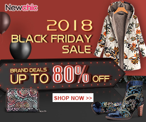 Black Friday 2018! Up To 80% OFF Brand Sale; End Date:Nov 30, 2018 (UTC+8)