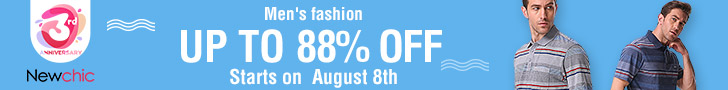 Up to 88% Off Men's Fashion in 3rd Anniv