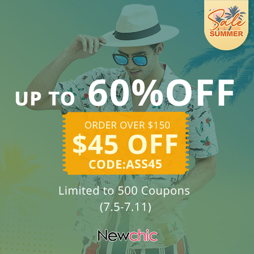 Newchic Summer Sale 2021 Women UP TO 60%OFF+ Extra $45 OFF Order Over $150