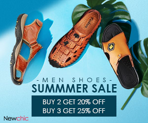 New Arrivals!Men's Sandals 2 for 20% off,3 for 25% off; Expire on 06/03/2019