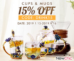 15% OFF Drinkware; Code: drink15; Expire on 4/16/2019