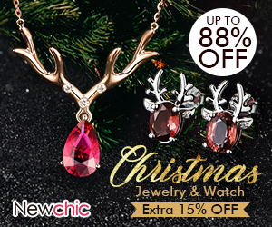 15% Off Christmas Jewelry & Watch; Coupon Code: CM15; Valid until: Feb 9, 2018