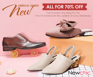 70% Women Shoes New Arrivals; Expire on 4/30/2019