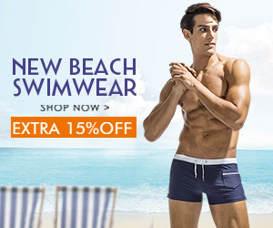 15% Off Men's Underwear Swimwear(Coupon Code: SWIMSUIT15 )