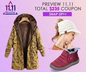 11.11 Sale! Total $235 OFF Coupons for All Items; Valid until: Nov.12 (UTC +8) ; Get the coupons in the landing page.