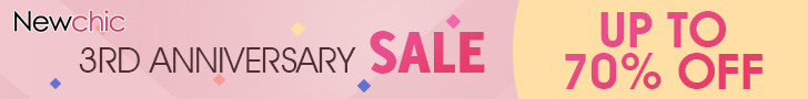 Up to 70% Off, Newchic 3rd Anniversary Sales, Valid: 07/05-07/31