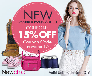 Up To 15% OFF Newchic Whole Sites For Men Women