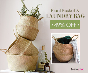 Up to 50% Off for Plant Baskets and Laundry Bag