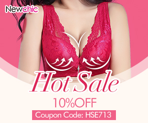 10% Off Women Bras Hot Sale Coupon Code:HSE713
