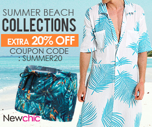 20% off Men's Swimwear; Coupon code:SUMMER20