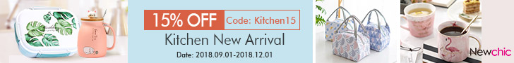 15% Off Kitchen Tools,Drinkware,Dinnerware; Coupon:Kitchen15; End: Nov 30th, 2018