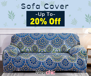 Newchic Sofa Cover Up TO 20% OFF no end date