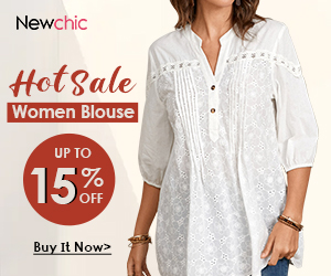 Newchic HOT SALE WOMEN BLOUSE UP TO 15% OFF