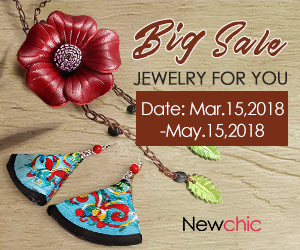 Up to 59% Off Fashion Jewelry;Valid until May 15, 2018