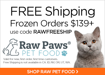 Free Shipping Frozen Orders $139+ with code RAWFREESHIP at RawPawsPetFood.com