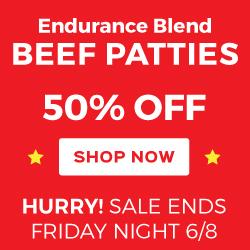 50% Off Endurance Blend Patties - Ends 6/8
