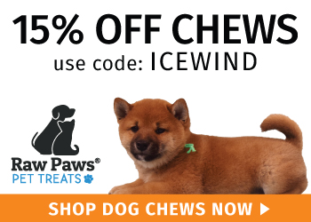 10% Off Dog Chews - use promo ICEWIND
