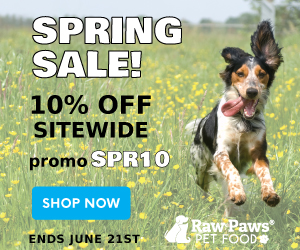 10% OFF Sitewide at Raw Paws Pet Food. Use promo: SPR10