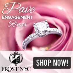 Pave Engagement Rings @ FrostNYC.com