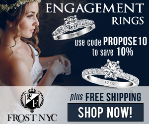 Save an extra 10% off on Engagement Rings. Use Frost NYC Promo Code - PROPOSE10