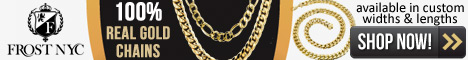 100% Real Gold Chains- Available in custom widths and lengths. Plus Free Shipping at FrostNYC.com