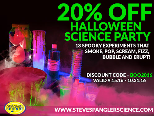 13 Spooky Experiments that smokme, pop, scream, fizz and bubble!