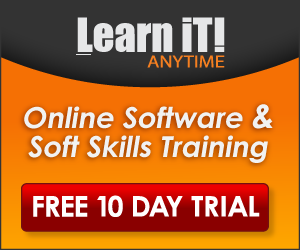 Learn It! Anytime - Online software training.  Free 10 day trial.