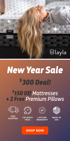 $150 off Mattresses + 2 Free Premium Pillows + Free Mattress Protector & more Sitewide Savings