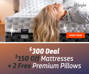 $150 off Mattresses + 2 Free Premium Pillow & more Sitewide Savings