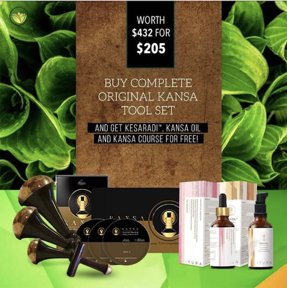 Buy the complete original Kansa tool set and get Kesaradi, Kansa oil and Kansa course for FREE! Worth $432 for Just $205!