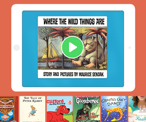 Huge selection of read-to-me and audiobooks.