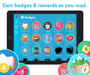 Earn badges & rewards as you read.
