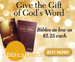 Give the Gift of God's Word through Biblica.com!