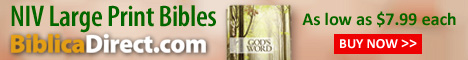 Biblica Direct NIV Large Print Bibles As low as 7.99 each Click for more info