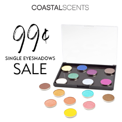 Single Eyeshadows Now Only 99¢ Each!