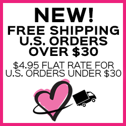 NEW! Free Shipping U.S. Orders Over $30. $4.95 Flat Rate FOr U.S. Orders Under $30